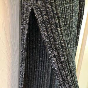 NWOT Ambiance grey high waist maxi skirt